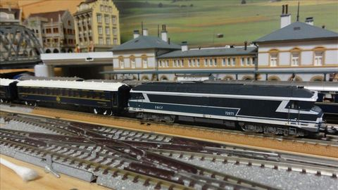Minitrix SNCF 機関車72071 Nゲージ Orient-Express